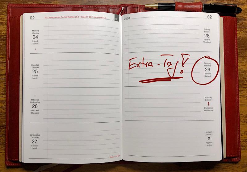 29.02. - ein Extra-Tag!