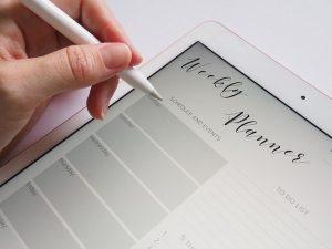 iPad mit Apple Pencil